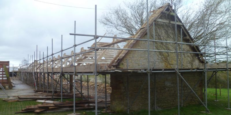 Calne Barn Mid-construction