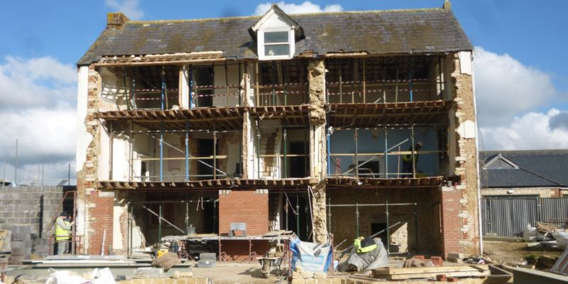 Calne Front Elevation Mid-Construction