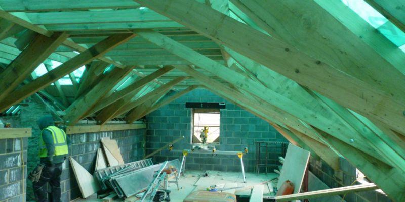 Calne Interior mid-construction