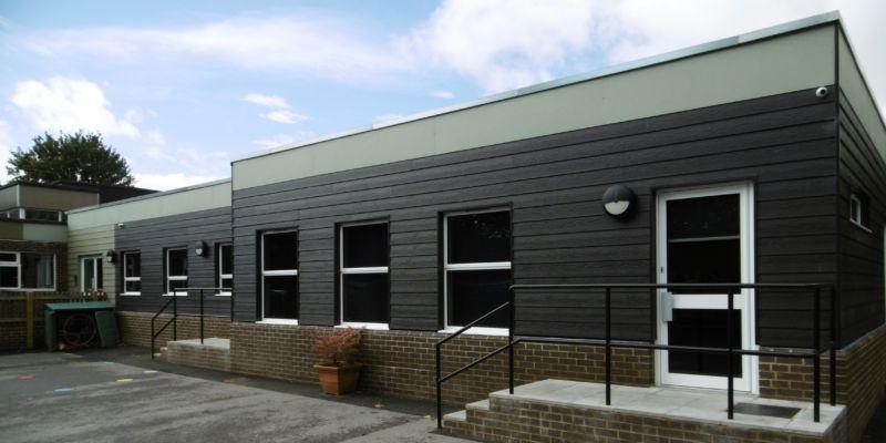 Wilton classroom exterior